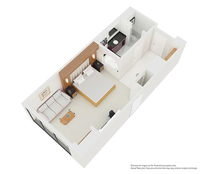 Separate Garage Block Possibly With Studio Accommodation: Elara By Hilton Grand Vacations