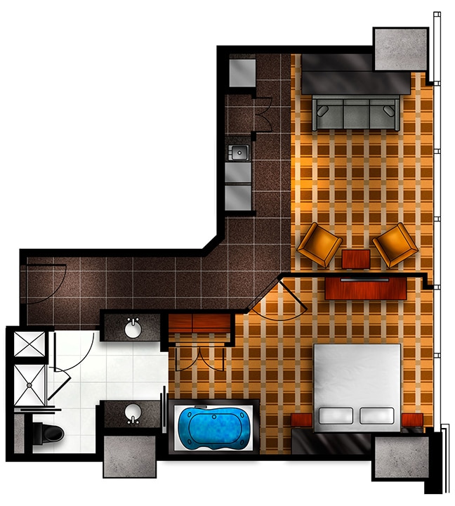 elara 2 bedroom suite. Elara By Hilton Grand Vacations 4 Bedroom Suite Floor Plan  Ourcozycatcottage com