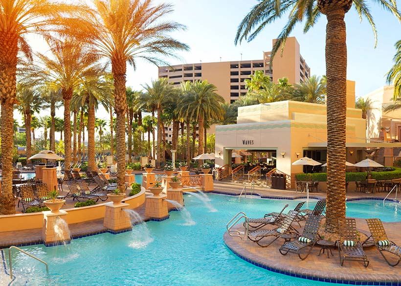 Pool With Waves Of Hilton Grand Vacations On The Strip Li
